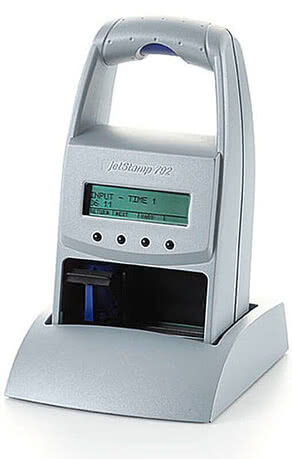 REINER jetStamp 792 MP - Produktabbildung: Ansicht links - in der Basisstation
