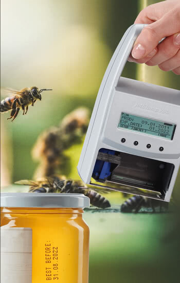 Printing on honey jards Handheld inkjet printer